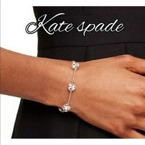 New Kate Spade silver marmalade crystal bracelet